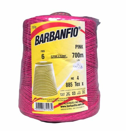 Barbante Barbanfio 6 fios Pink 700 Gramas 700 Metros