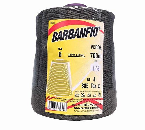 Barbante Barbanfio 6 fios Verde 700 Gramas 700 Metros