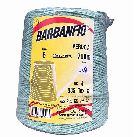 Barbante Barbanfio 6 fios Verde Agua 700 Gramas 700 Metros