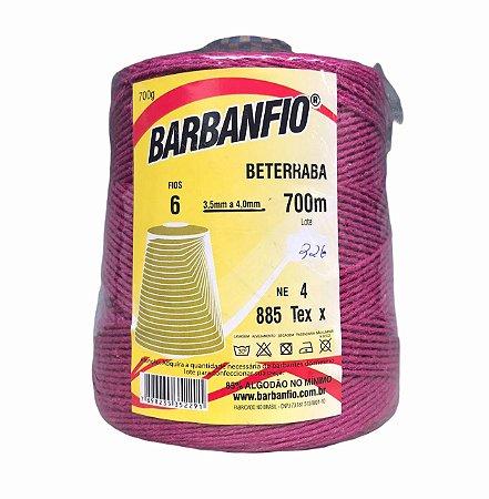 Barbante Barbanfio 6 fios Beterraba 700 Gramas 700 Metros