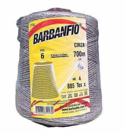 Barbante Barbanfio 6 fios Cinza 700 Gramas 700 Metros