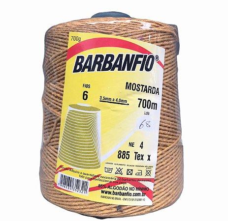 Barbante Barbanfio 6 fios Mostarda 700 Gramas 700 Metros