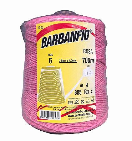 Barbante Barbanfio 6 fios Rosa 700 Gramas 700 Metros