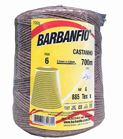 Barbante Barbanfio 6 fios Castanho 700 Gramas 700 Metros