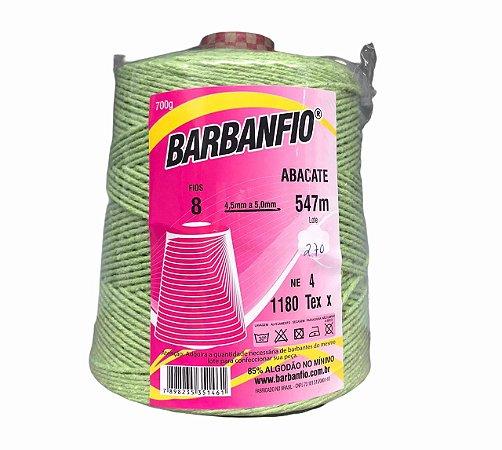 Barbante Barbanfio 8 fios Verde Abacate 700 Gramas 547 Metros