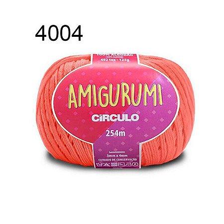 Linha Amigurumi 254m Cor 4004 Coral Vivo - Círculo