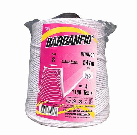 Barbante Barbanfio 8 fios Branco 700 Gramas 547 Metros