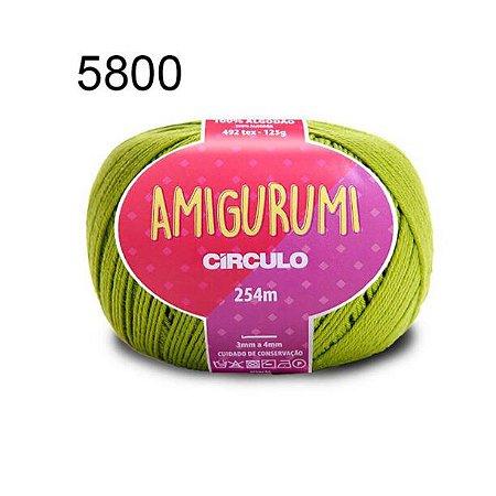Linha Amigurumi 254m Cor 5800 Pistache - Círculo