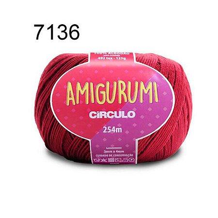 Linha Amigurumi 254m Cor 7136 Marsala - Círculo