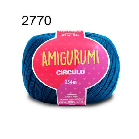 Linha Amigurumi 254m Cor 2770 Azul Clássico - Círculo