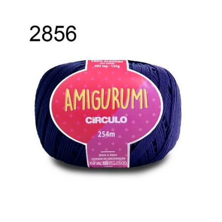 Linha Amigurumi 254m Cor 2856 Anil Profundo - Círculo