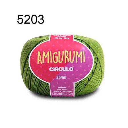 Linha Amigurumi 254m Cor 5203 Greenery - Círculo