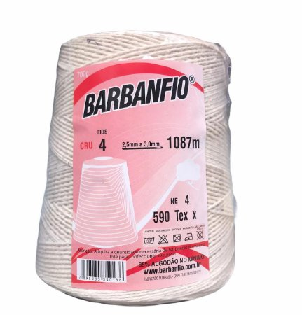 Barbante Barbanfio 4 fios Cru 700 Gramas 1087 Metros