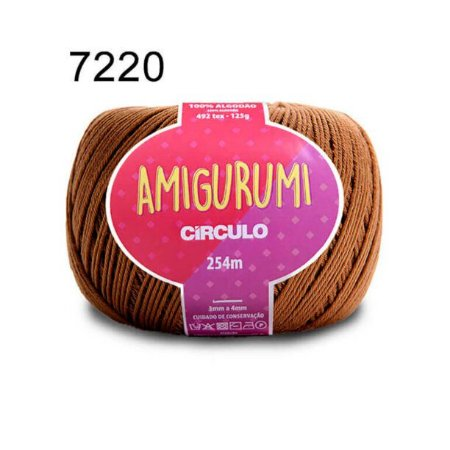 Linha Amigurumi 254m Cor 7220 Tâmara - Círculo