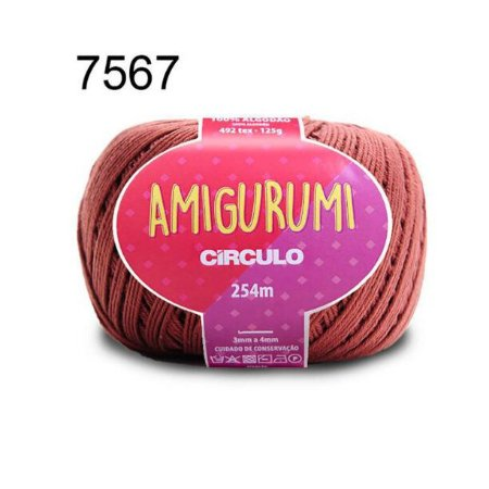 Linha Amigurumi 254m Cor 7567 Cacau - Círculo