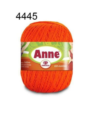 Linha Anne 500m Cor 4445 Tangerina- Círculo