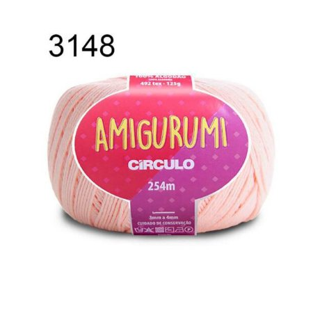 Linha Amigurumi 254m Cor 3148 Macadâmia - Círculo