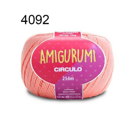 Linha Amigurumi 254m Cor 4092 Organza - Círculo