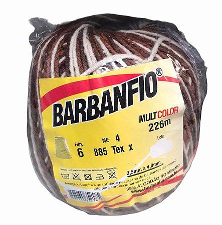 Barbante Barbanfio 6 fios Multicolor Marrom 200 gramas 226 metros