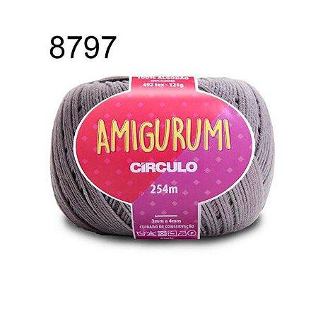 Linha Amigurumi 254m Cor 8797 Aço - Círculo