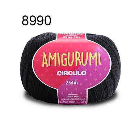 Linha Amigurumi 254m Cor 8990 Preto - Círculo