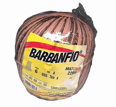 Barbante Barbanfio 6 fios Multicolor Caramelo 200 gramas 226 metros