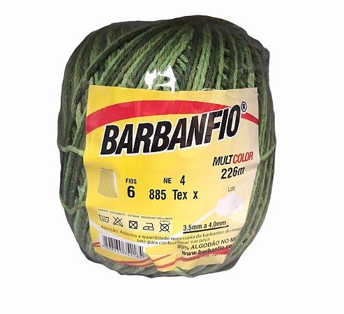 Barbante Barbanfio 6 fios Multicolor Verde Abacate 200 gramas 226 metros