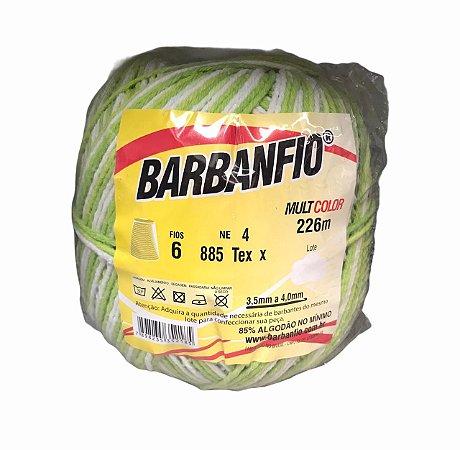 Barbante Barbanfio 6 fios Multicolor Verde Limão 200 gramas 226 metros