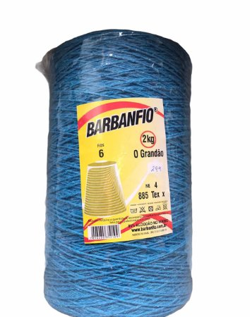 Barbante Barbanfio 6 fios Azul Turqueza 2kg