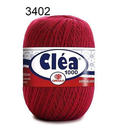 Linha Cléa 1000 151g Cor 3402 Vermelho Círculo - Círculo