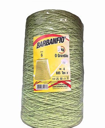 Barbante Barbanfio 6 fios Verde Abacate 2kg
