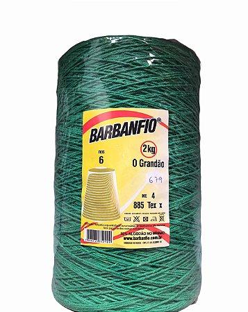 Barbante Barbanfio 6 fios Verde Bandeira  2kg