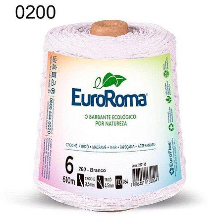 Barbante EuroRoma 6 fios Cor 200 Branco 610 metros