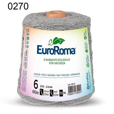 Barbante EuroRoma 6 fios Cor 270 Cinza 610 metros