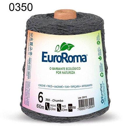 Barbante EuroRoma 6 fios Cor 350 Chumbo 610 metros