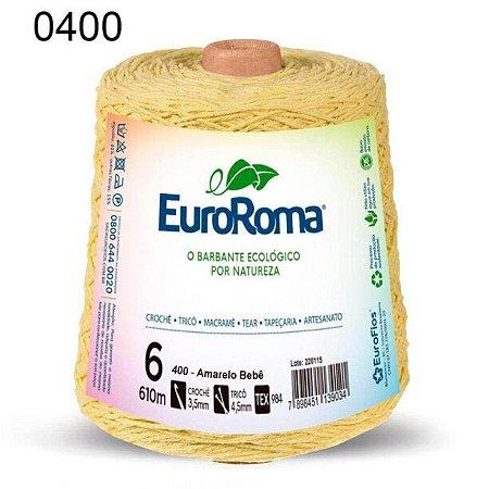 Barbante EuroRoma 6 fios Cor 400 Amarelo Bebê 610 metros