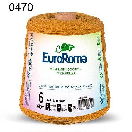 Barbante EuroRoma 6 fios Cor 470 Mostarda 610 metros