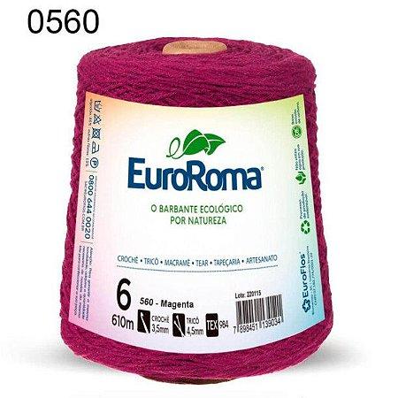 Barbante EuroRoma 6 fios Cor 560 Magenta 610 metros