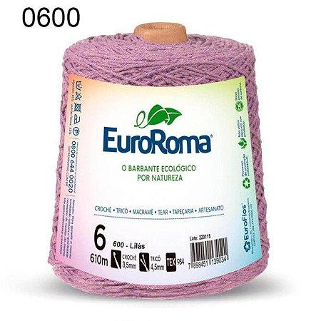 Barbante EuroRoma 6 fios Cor 600 Lilás Claro 610 metros
