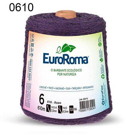 Barbante EuroRoma 6 fios Cor 610 Roxo 610 metros