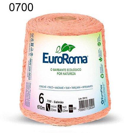 Barbante EuroRoma 6 fios Cor 700 Salmão 610 metros