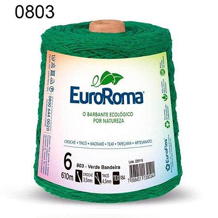 Barbante EuroRoma 6 fios Cor 803 Verde Bandeira 610 metros