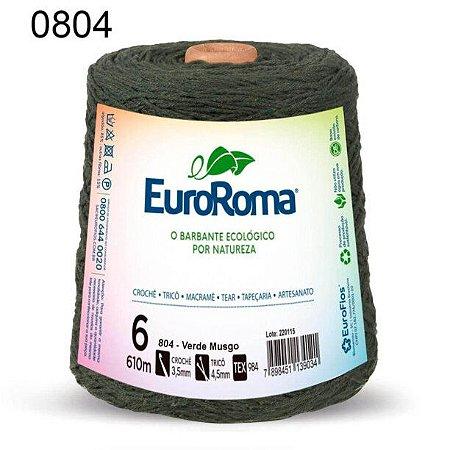 Barbante EuroRoma 6 fios Cor 804 Verde Musgo 610 metros