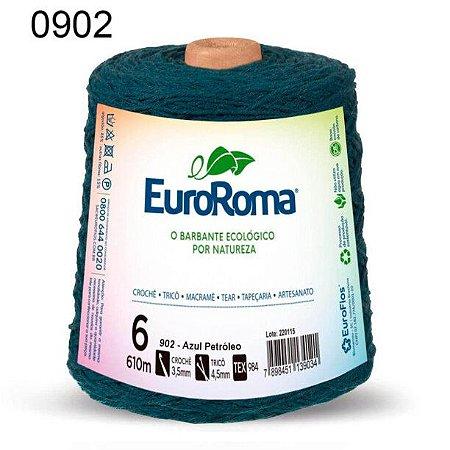Barbante EuroRoma 6 fios Cor 902 Azul Petróleo 610 metros