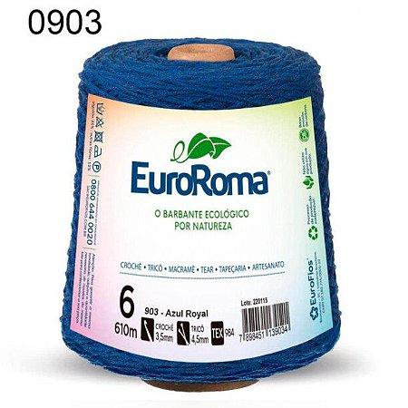 Barbante EuroRoma 6 fios Cor 903 Azul Royal 610 metros