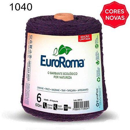 Barbante EuroRoma 6 fios Cor 1040 Púrpura 610 metros
