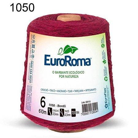 Barbante EuroRoma 6 fios Cor 1050 Bordô 610 metros