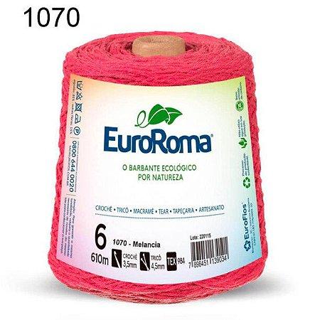 Barbante EuroRoma 6 fios Cor 1070 Melância 610 metros