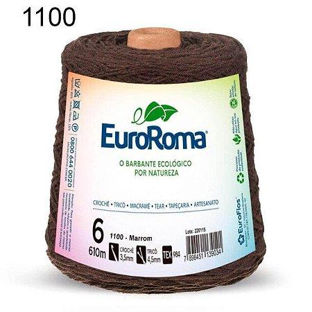 Barbante EuroRoma 6 fios Cor 1100 Marrom 610 metros