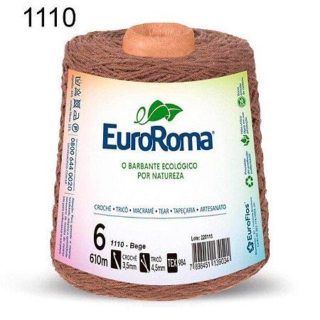 Barbante EuroRoma 6 fios Cor 1110 Bege 610 metros